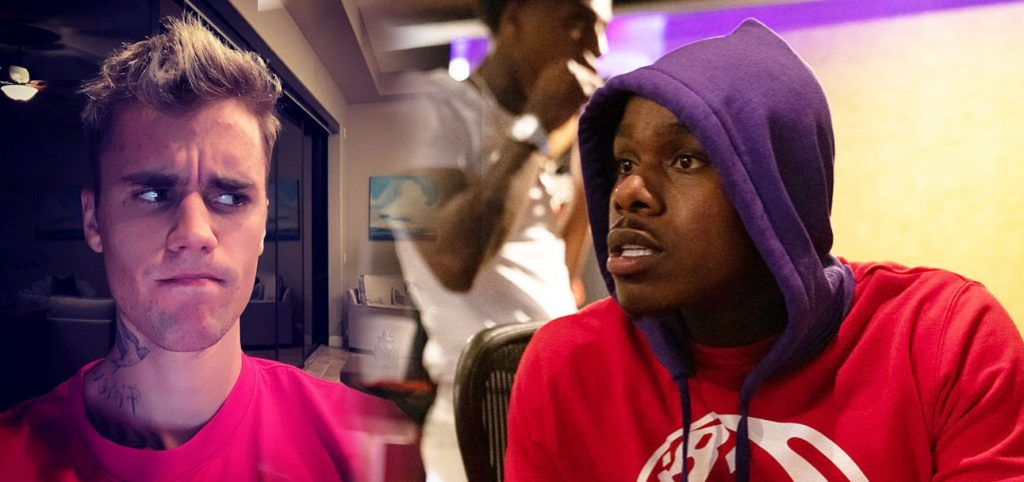 Justin Bieber & DaBaby look confused, both have criminal history you can search and find on google
